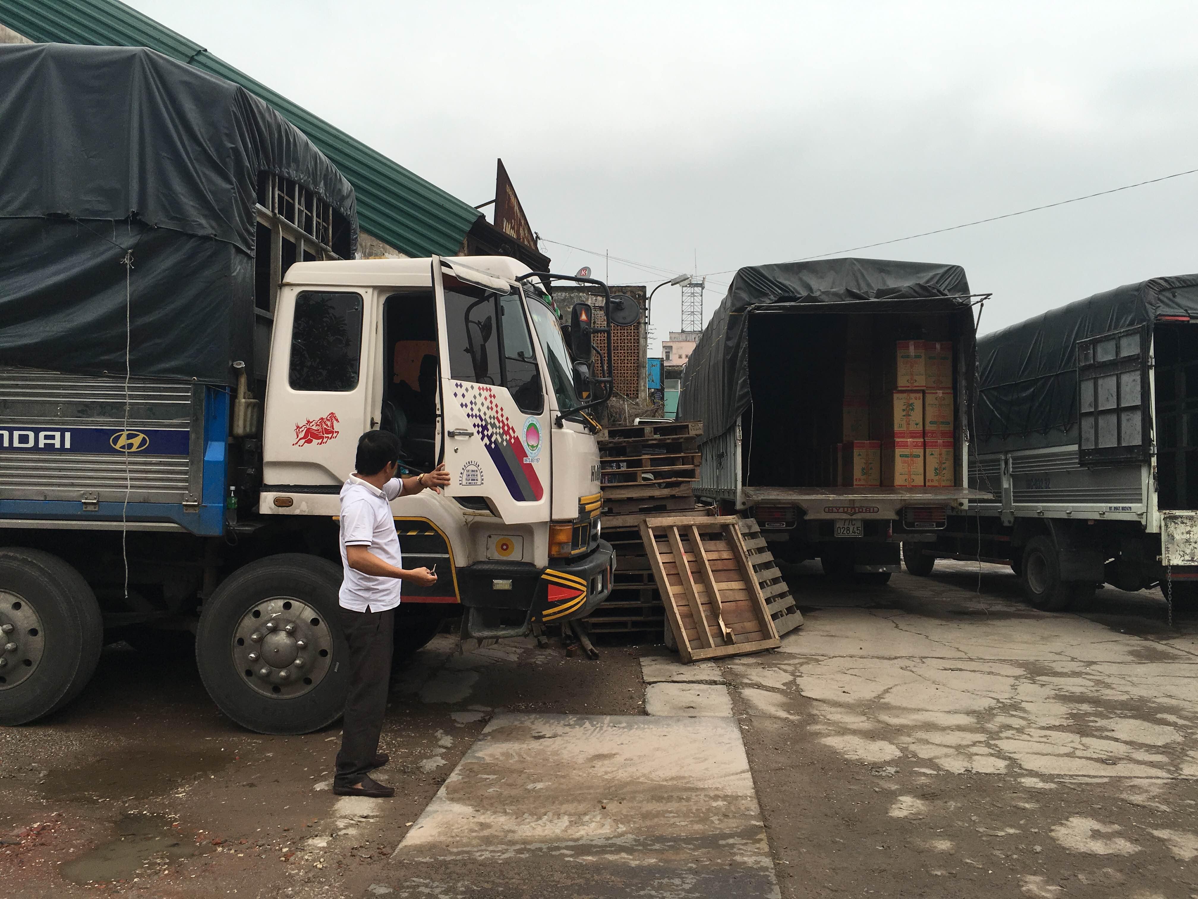 Quy định xếp hàng hóa trên xe tải